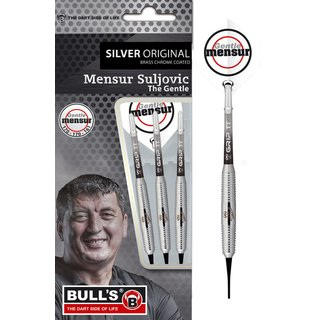 BULLS Mensur Suljovic Team Player silver Soft Dart 18 g