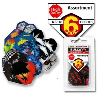 BULLS 6-Pack Flights assort. Sort.