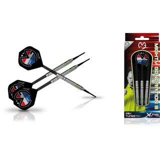 XQMAX Michael van Gerwen Mighty Generation III 90 % Tungsten Soft Darts 18 g